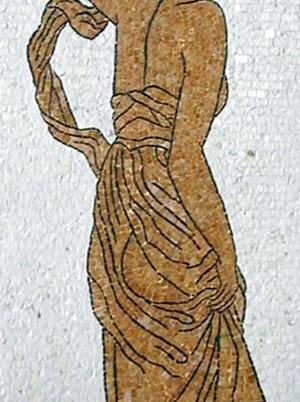 Figura classica mosaico in marmo