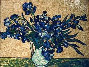 VanGogh Iris mosaico