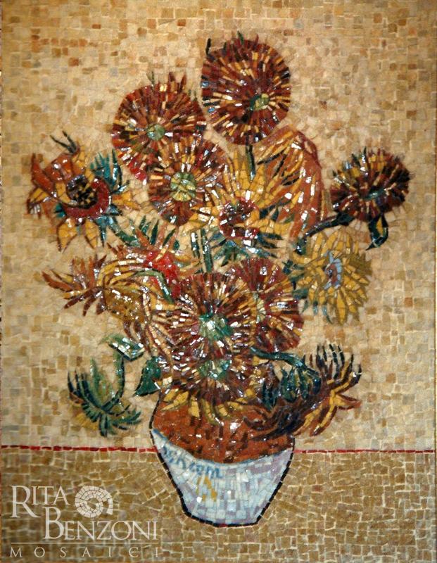 VanGogh girasoli mosaico
