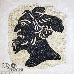 Console Romano mosaico in marmo