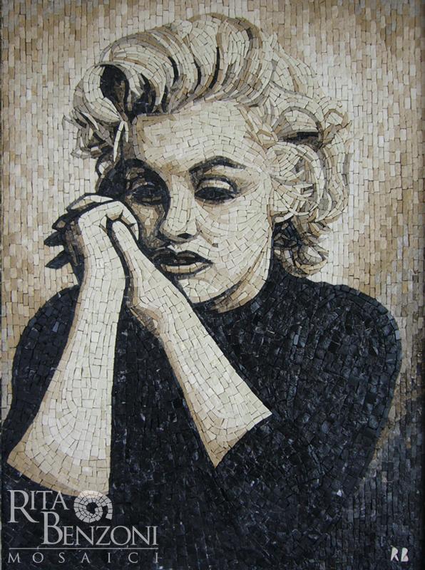 Ritratto mosaico Marilyn Monroe