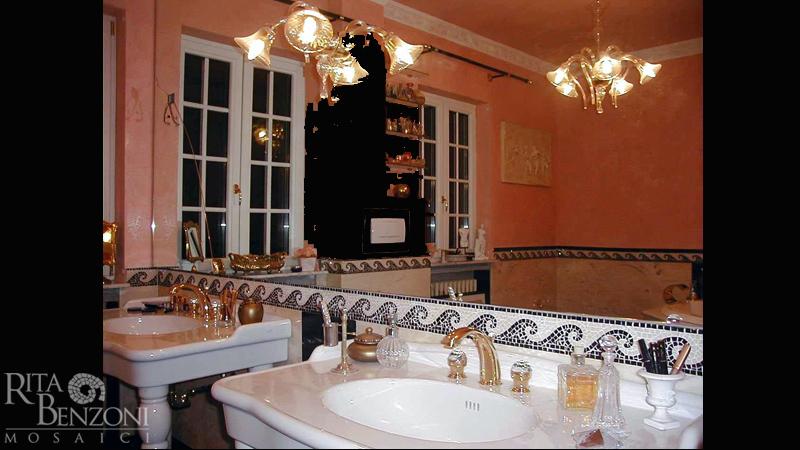 Bagni In Marmo Nero : Stanze da bagno in marmo e mosaico rivestimento e decorazione