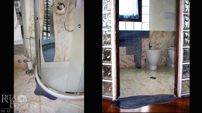 Bagno Con Mosaico Nero : Stanze da bagno in marmo e mosaico rivestimento e decorazione